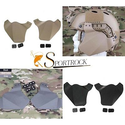 Outdoor Airsoft Tactical Ear Side Cover Protector for Emerson FAST Helmet Rail