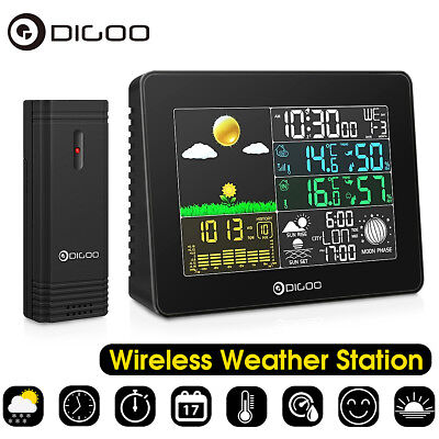 Digoo Wireless Color Digital Weather Station Hygrometer Thermometer Barometer UK