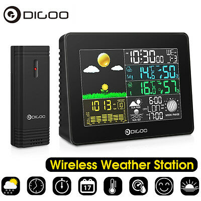 Digoo Wireless Full Color Weather Prediction Station Weather Forecast Sensor -Uk