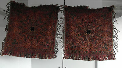 "22 Antique Colorful Folklore Arts & Crafts Dutch Paisley Shawl ""bietkleed"" Doily"