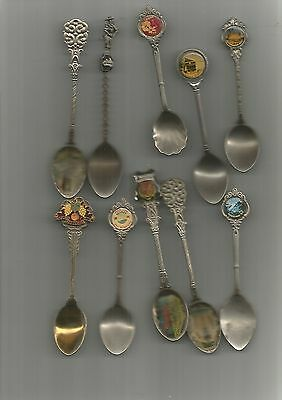 Souvenir Spoons 10 Mixed,Nice Lot See Scan