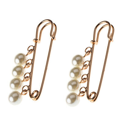 1 Pair Pearl Shoes Clips Buckle Charms Jewelry for High-heeled Shoes Decor