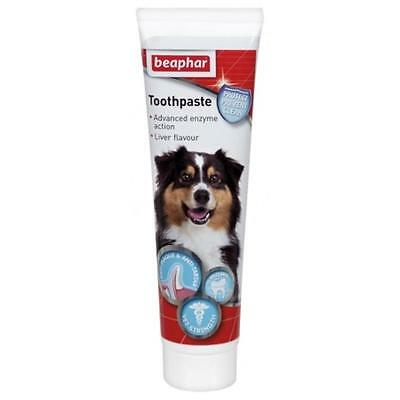 Beaphar Enzymatic Dog Cat TOOTHPASTE Breath Dental Tooth Care Liver Flavour 100g