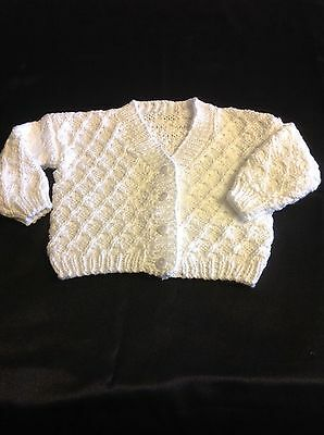 Baby boy or girls knitted cardigan jacket size 00