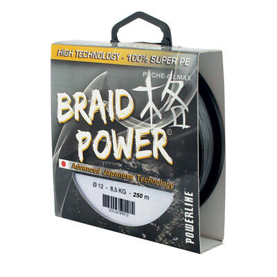 tresse braid power grise 250m powerline