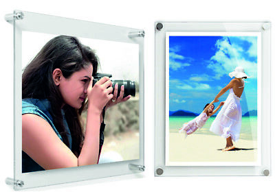 Clear Modern Acrylic Picture & Photo Frames Wall Mounted, All Sizes & Best Value