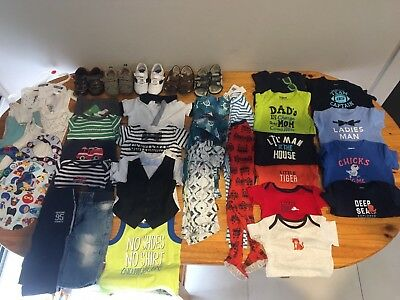 Boys Bundle Size 6-18 Months Bonds/Carter's/Oshkosh/Bardot Junior