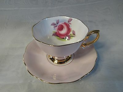 "Royal Albert Bone China England ""Painters Rose"" Large Rose Pink"