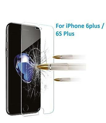 100% GENUINE TEMPERED GLASS FILM SCREEN PROTECTOR FOR APPLE IPHONE 6 6S Plus