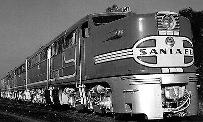 Santa Fe Super Chief photo Locomotive #51 ALC0 PA PB  ATSF Railroad train