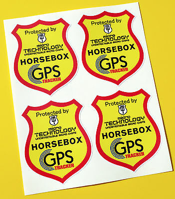 HORSEBOX GPS TRACKER UNDETECTABLE CHIP  anti theft SECURITY stickers decals