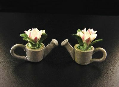 Miniature Dollhouse Fairy Garden Flowers in Watering Can Set  #4 - Buy 3 Save $5