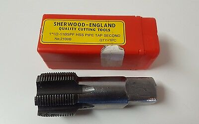 Sherwood 1*1/2-11BSPF HSS Pipe Tap Second No.2100B,Milling (bd)