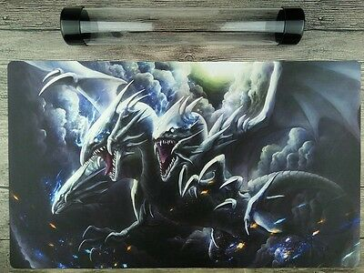 Blue Eyes Ultimate Dragon Mat YuGiOh WCQ/WCS TCG Playmat Free High Quality Tube