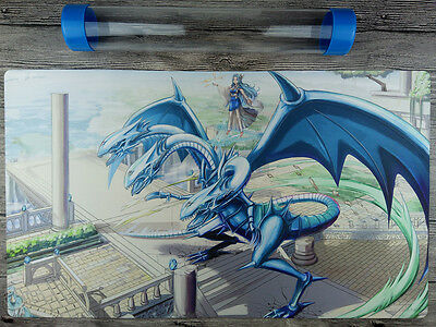 Blue Eyes Ultimate Dragon YuGiOh Playmat Free High Quality Tube TCG Mat