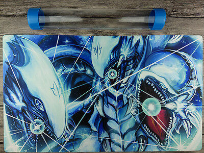 Blue Eyes Ultimate Dragon YuGiOh TCG/WCQ/WCS Playmat Free High Quality Tube