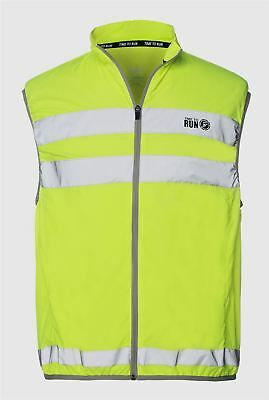 High Vis Reflective Safety Lightweight Adjustable Large Gilet Running Cycling