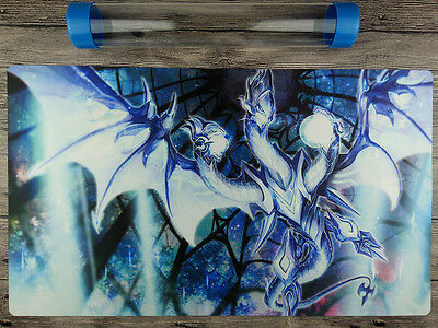 Neo Blue-Eyes Ultimate Dragon YuGiOh Playmat Free High Quality Tube TCG DIY Mat