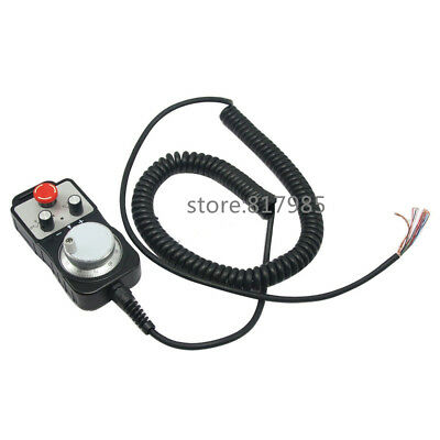 DHL free shiping 4 Axis Handwheel MPG Pendant & Emergency Stop  Pulse Generators