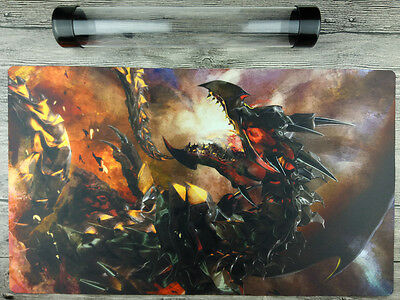 Red-Eyes Flare Metal Dragon YuGiOh Playmat Free High Quality Tube TCG Mat