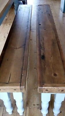 Pair of pine benches. Canterbury area