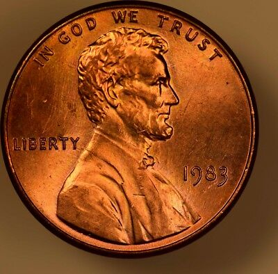 1983 Doubled Die Reverse Lincoln Cent Choice UNC