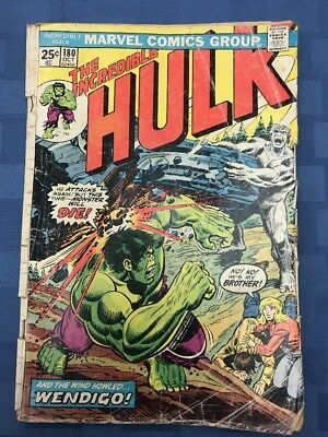 The Incredible Hulk #180 (Oct 1974, Marvel) GOOD COND* READ 1st WOLVERINE CAMEO