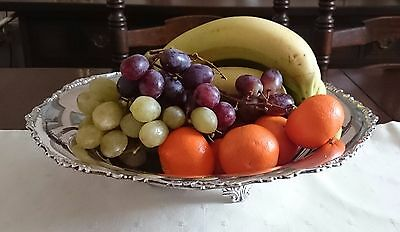 LARGE 12.5ins ITALIAN SOLID SILVER CENTREPIECE BOWL FRUIT PALERMO 418gms 800