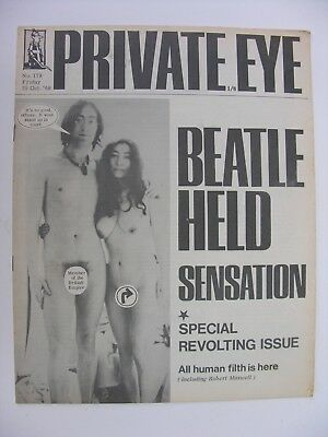 PRIVATE EYE 1968 25 October No 179 John Lennon Yoko Ono Beatle Held Sensation