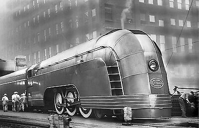 New York Central Mercury photo Art Deco Steam Locomotive Train NYC Railroad #6