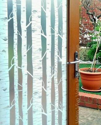90 CM x 3 M - Tree Removable Frosted Window Glass Film for privacy