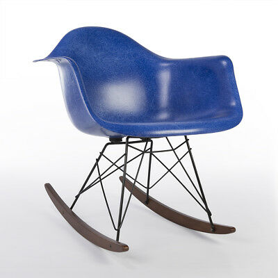 Herman Miller Original Eames Electric Blue Fiberglass RAR Rocking Arm Chair