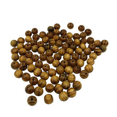 100x Wood Spacer Beads for Jewelry Making Necklace Bracelet DIY Craft 10mm