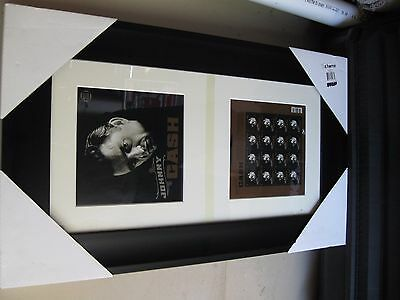 Johnny Cash Usps Stamps Framed Matted