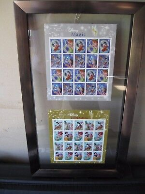 Disney Magic And Celebration Usps Stamps Framed