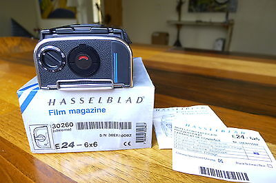 HASSELBLAD E24 film back Chrome matched insert latest Box Papers 203 205 503
