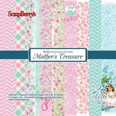 "Scrap Berrys Paper SET ""Mothers Treasurer"" SCB220607213g, 24 Blatt,15 x15 cm"