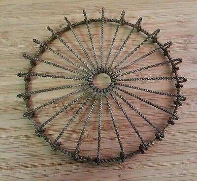 Antique 6 Inch Twisted Wire Trivet #2