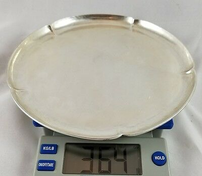 Kalo Shops Hand Wrought Sterling Silver Tray,plate 364 grams
