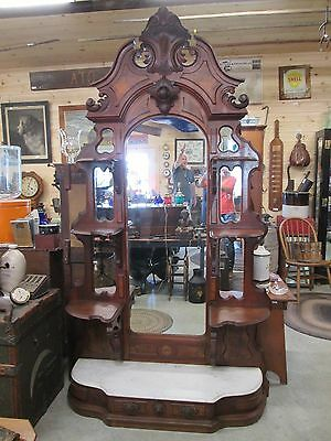 Ornate Antique Victorian Walnut Etagere