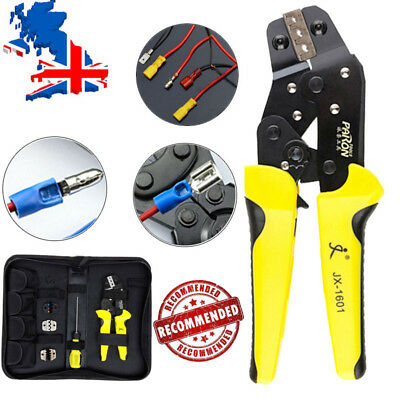 Ratchet Crimper Plier Crimping hand Tool, Connector Electrical Terminal Yellow