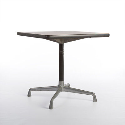 Herman Miller Vintage Original Eames Square Beech Contract Table on Glides