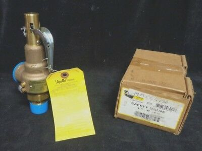 "APOLLO VALVES * SAFETY RELIEF VALVE 1"" x 1"" MODEL 19MEEK120 * NEW IN THE BOX"