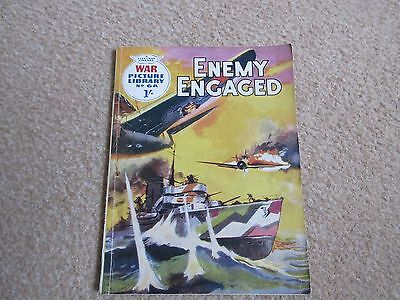 War Picture Library comic No 68,' Enemy Engaged' 1960-GC/ Commando