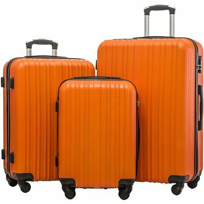Merax Hylas 3 Piece Hardshell Spinner Luggage Travel Set ABS Trolley Suitcase US