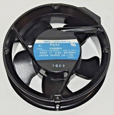 Parky PA60B31 Thermally Protected Cooling Fan 200V 1-Phase 0.2A Japan Servo Co.
