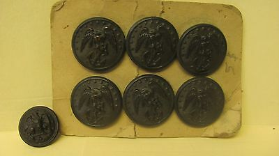 Lot Of 7 NOS Vintage US Navy Superior Quailty Bronse Eagle With Anchor WWII Era
