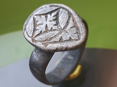 Silver Roman Military Archers Ring