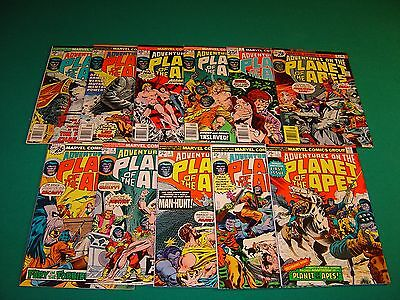 Adventures on the Planet of the Apes 1-11 (1975) FN 6.0 Complete Set Marvel
