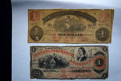 Pair of $1 Obsolete Bank Notes